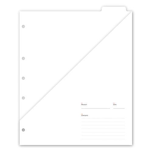 Signature Paper Pocket, White