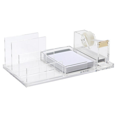 Acrylic Wide Tray Bundle, Clear