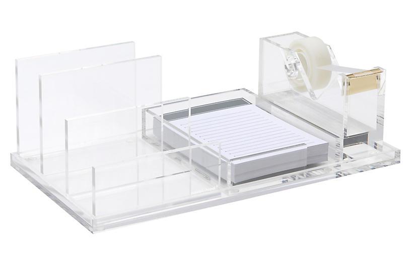 Acrylic Wide Tray Bundle, Clear