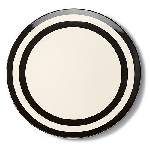 Raise a Glass Melamine Dinner Plate, Black/White