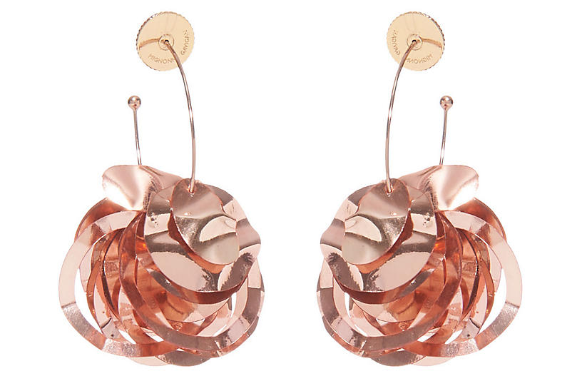 Mini Lola Hoop Earrings, Rose Gold