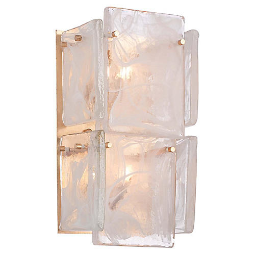 Artic Frost 2-Light Wall Sconce, French Gold