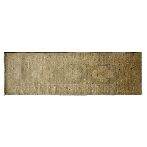 """2'6""""x8'6"""" Davorin Hand-Knotted Runner, Sand"""