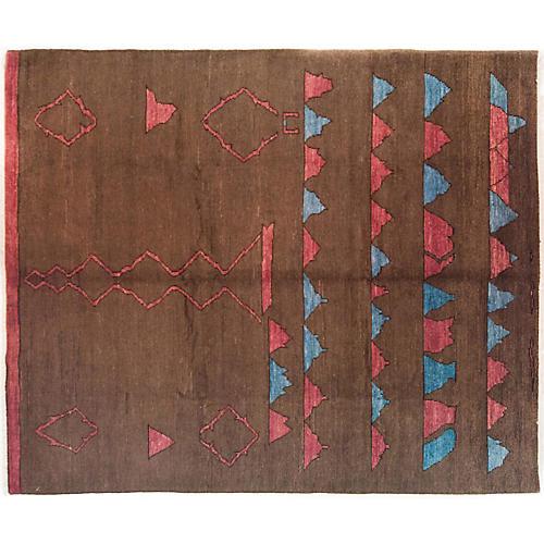 "8'1""x9'10"" Moroccan Rug, Cocoa"