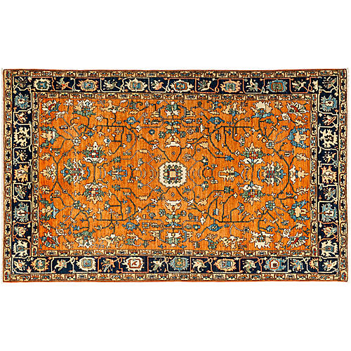 "6'3""x9'10"" Serapi Rug, Orange/Multi"