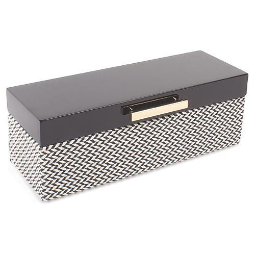 Chevron Jewelry Box, Black/White