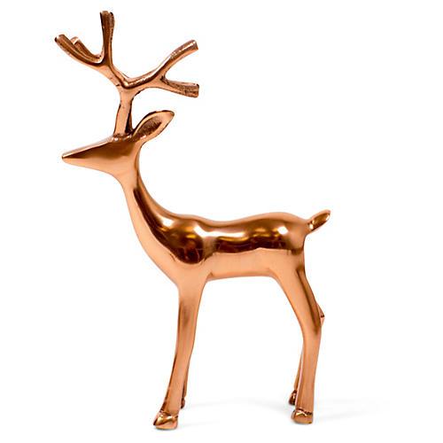 "11"" Reindeer Figure, Rose Gold"
