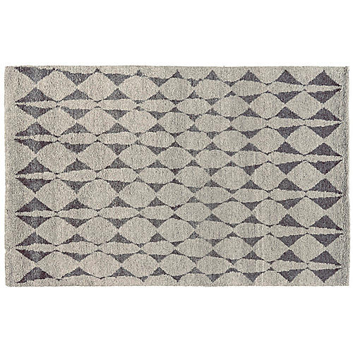 Anil Hand-Knotted Rug, Gray