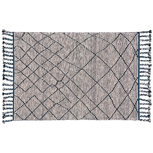 York Hand-Knotted Rug, Storm