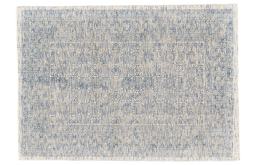 Elliott Hand-Loomed Rug, Blue