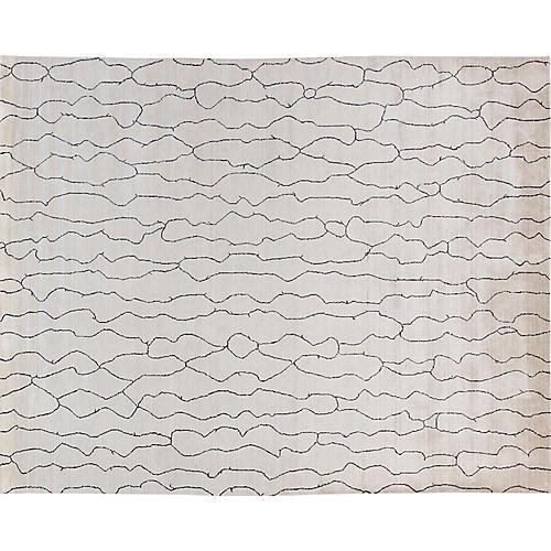 Frej Hand-Loomed Rug, Ivory