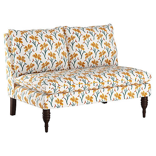 Bacall Settee, Marigold Floral