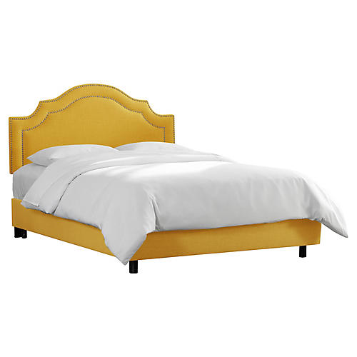 Bedford Bed, Mustard Linen