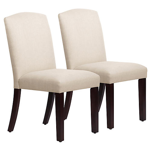 Marie Side Chairs, Talc Linen