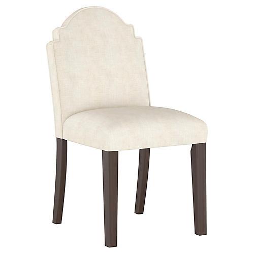 Elloree Side Chair, Talc Linen