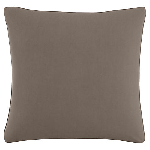 Zett 20x20 Pillow, Smoke Velvet