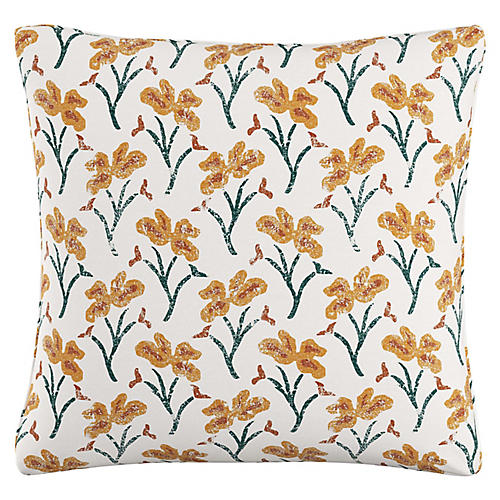 Giselle 20x20 Pillow, Marigold Floral