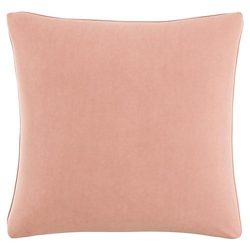 Zett 20x20 Pillow, Blush Velvet