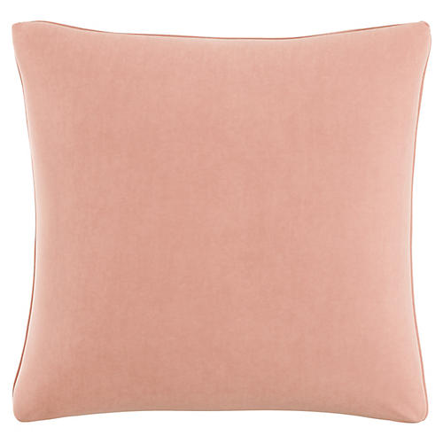 Zett 20x20 Pillow, Blush Velvet