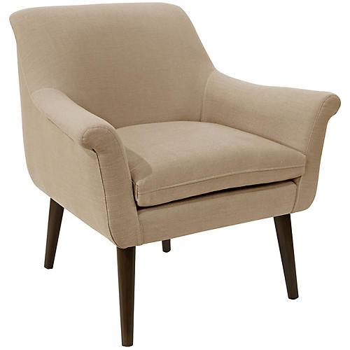 Harmon Accent Chair, Sand Linen