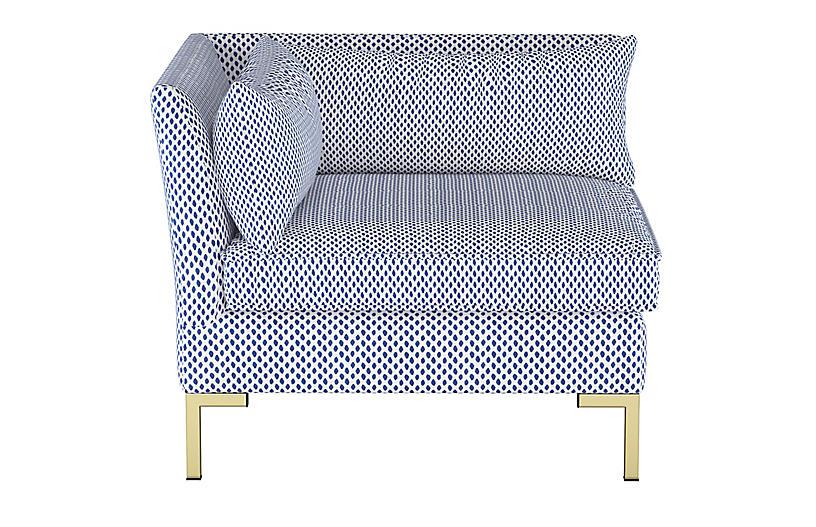 Marceau Corner Chair, Dot