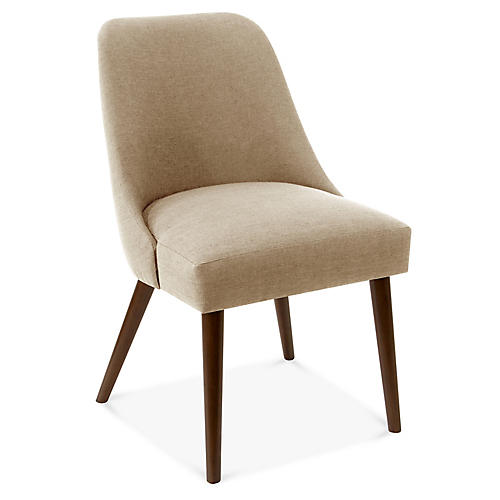 Barron Side Chair, Sand Linen
