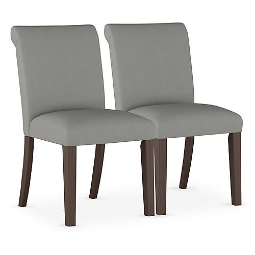 S/2 Carmen Side Chairs, Gray
