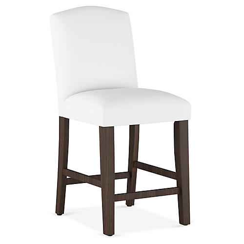 Marie Arched Counter Stool, White
