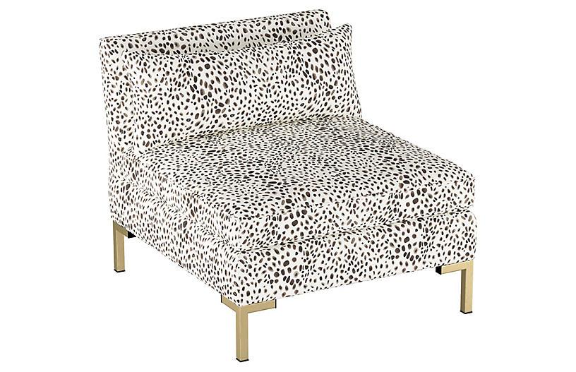 Marceau Slipper Chair, Cheetah