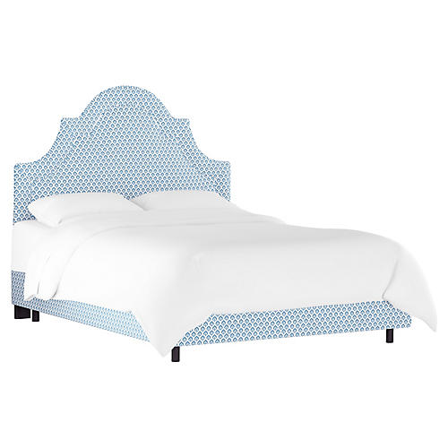 Kennedy Bed, Chambray Blue/Ivory