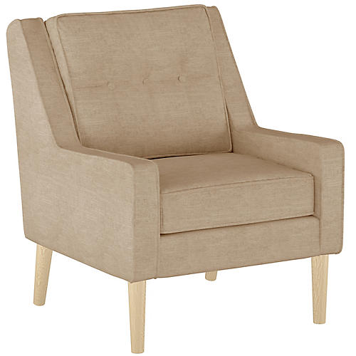Shara Accent Chair, Sand Linen