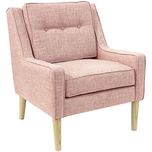 Shara Accent Chair, Blush