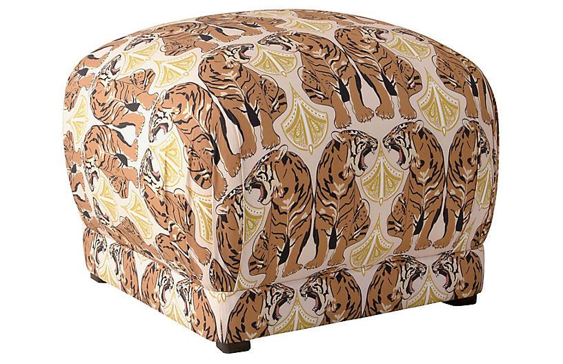 Benton Ottoman, Blush Tiger