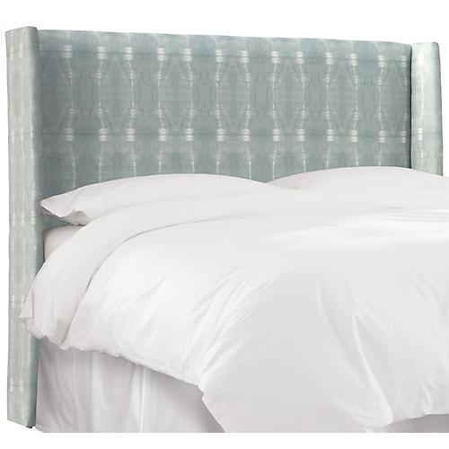 Kelly Wingback Headboard, Mist/White