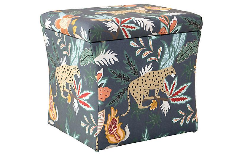 Excellent Maria Storage Ottoman Navy Safari Spiritservingveterans Wood Chair Design Ideas Spiritservingveteransorg