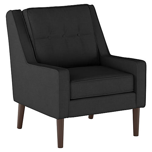 Shara Club Chair, Black