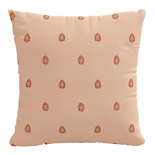 Mariposa 20x20 Pillow, Peach