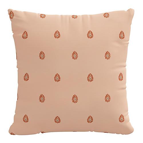 Mariposa 20x20 Pillow, Peach