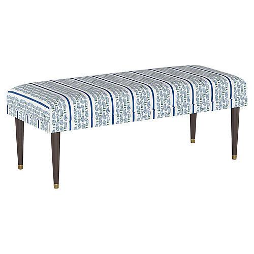 Agave Stripe Bench, Indigo