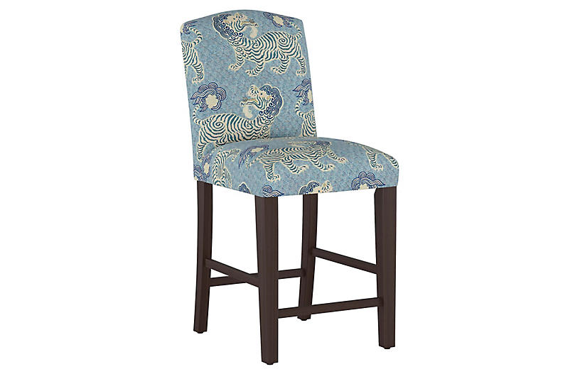 Marie Counter Stool, Blue Lion