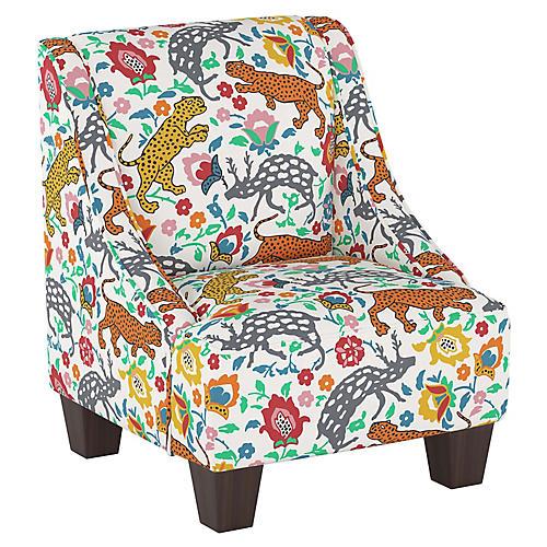 Fletcher Kid's Chair, Orange Leopard