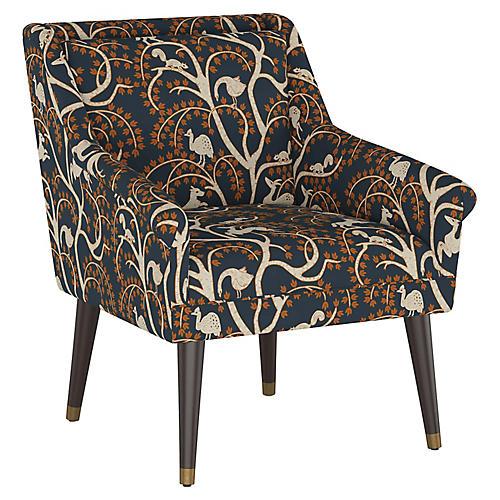 Carson Accent Chair, Vintage Vines
