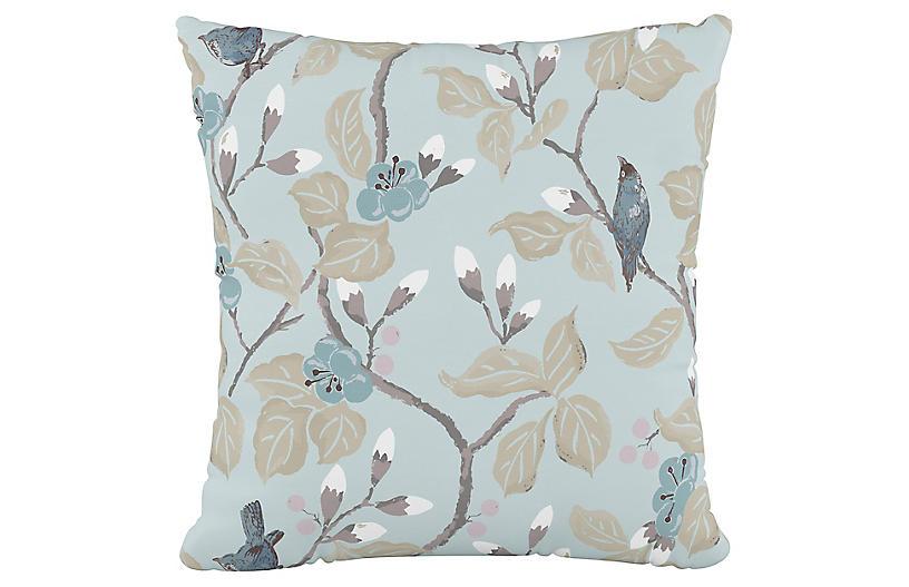 Grace 20x20 Pillow, Blue Chinoiserie