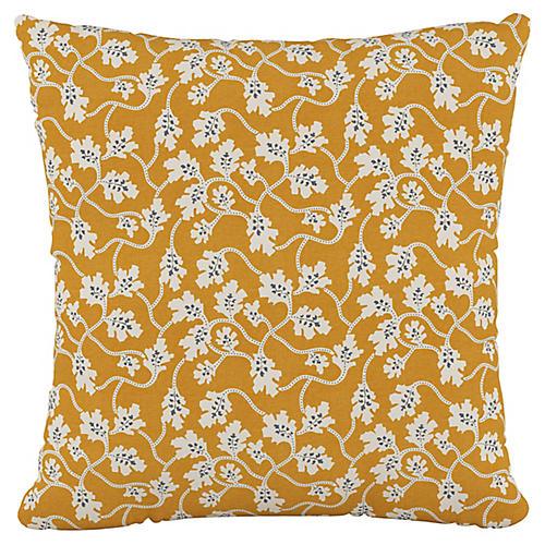 Tracy 20x20 Pillow, Vintage Vines Orange