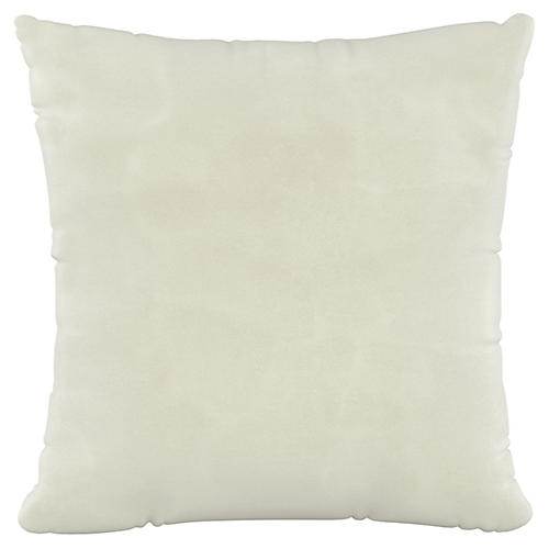 Vero 20x20 Pillow, Cream Velvet