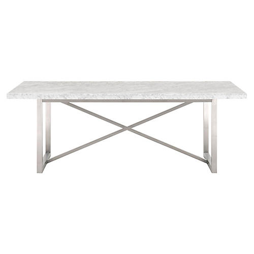 Chasm Dining Table, White