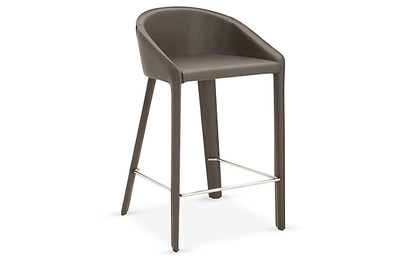 Kane Counter Stool, Shadow Leather