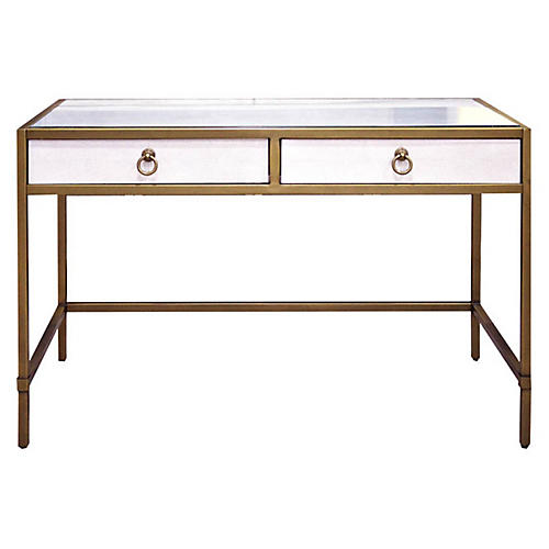 Strand Writing Desk, White