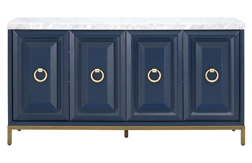 Gresham Sideboard, Navy Blue