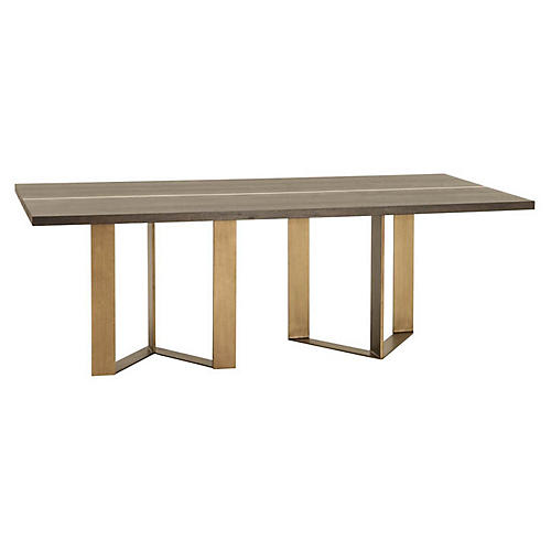 Midtown Dining Table, Whiskey Oak